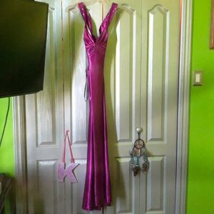 Jessica McClintock for Gunne Sax Fuchsia Dress